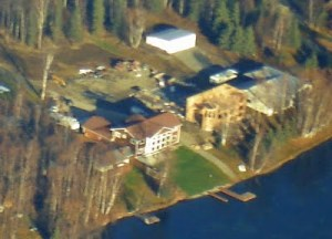 New construction adjacent to the Palin house on Lake Lucile