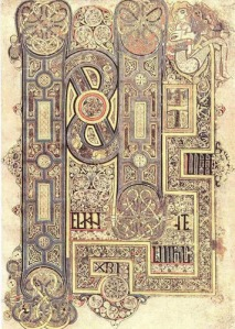 Incipit to the Gospel of Mark, Book of Kells